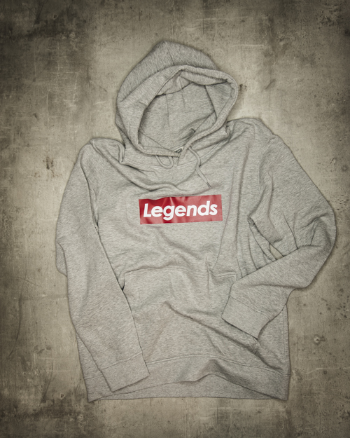 Streetwear LGNDS the legends frankfurt bar club Hoodie grau 126