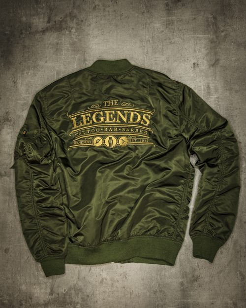 Streetwear LGNDS the legends frankfurt bar club Bomberjacke 117