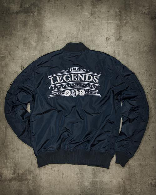 Streetwear LGNDS the legends frankfurt bar club Bomberjacke blau 114