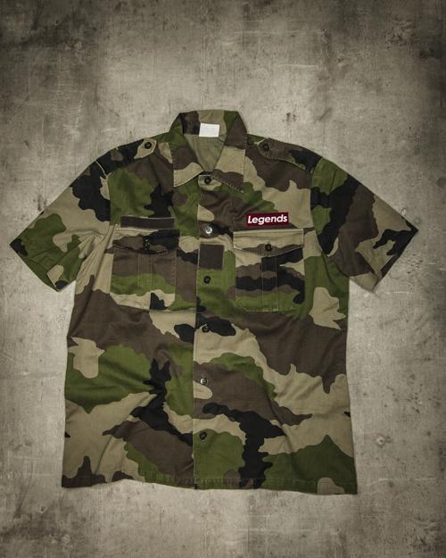 Streetwear LGNDS the legends frankfurt bar club camouflage Kurzarm 126