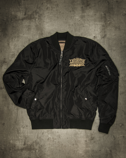 Streetwear LGNDS the legends frankfurt bar club Bomberjacke schwarz 112
