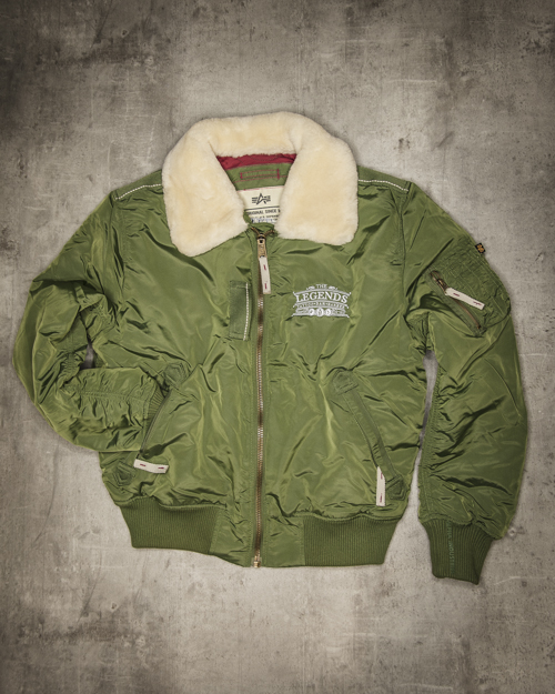 Streetwear LGNDS the legends frankfurt bar club Bomberjacke mit Fell 119