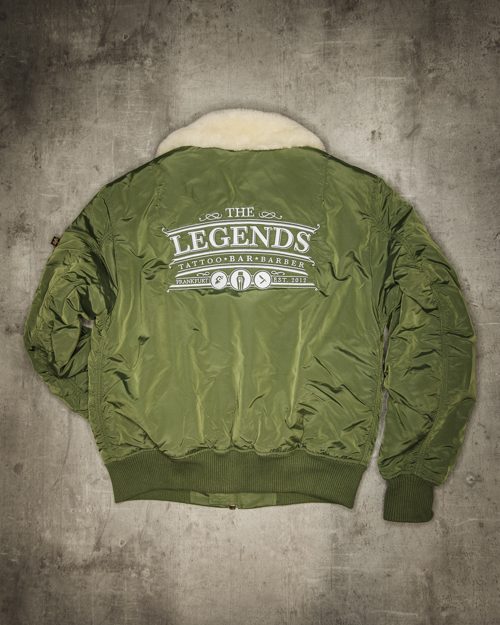 Streetwear LGNDS the legends frankfurt bar club Bomberjacke 01