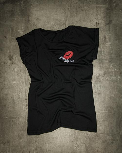 Streetwear LGNDS the legends frankfurt bar club girls women shirt kiss 02